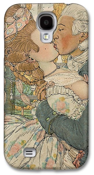 Saints Drawings Galaxy S4 Cases - Le Baiser Galaxy S4 Case by Konstantin Andreevic Somov