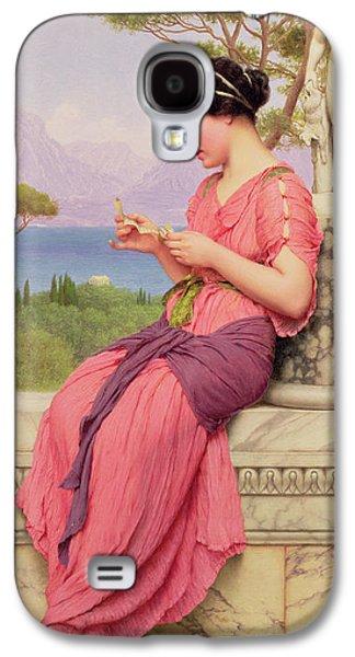 Greek Sculpture Galaxy S4 Cases - Le Billet Doux Galaxy S4 Case by John William Godward