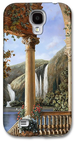 Columns Galaxy S4 Cases - Le Cascate Galaxy S4 Case by Guido Borelli