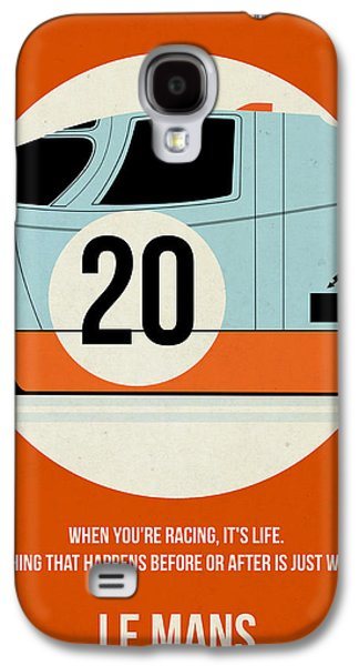 Tv Galaxy S4 Cases - Le Mans Poster Galaxy S4 Case by Naxart Studio