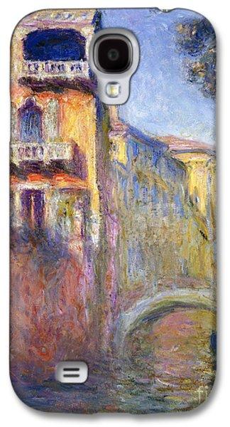 Perspective Paintings Galaxy S4 Cases - Le Rio de la Salute Galaxy S4 Case by Claude Monet