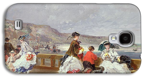 Seashore Galaxy S4 Cases - Le Treport, 1867 Oil On Canvas Galaxy S4 Case by Jules Achille Noel