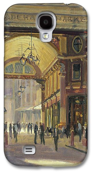 Victorian Photographs Galaxy S4 Cases - Leadenhall Market - The Crossroads Oil On Canvas Galaxy S4 Case by Julian Barrow