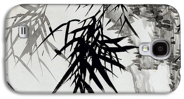 Leaf Drawings Galaxy S4 Cases - Leaf E Galaxy S4 Case by Rang Tian