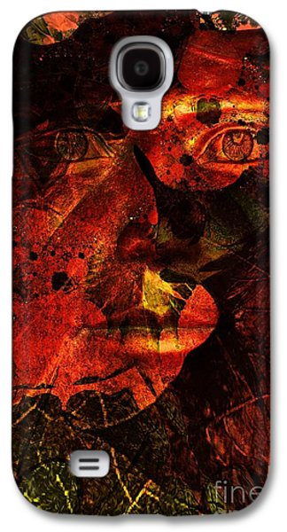Nature Abstract Galaxy S4 Cases - Leaf Man Galaxy S4 Case by Elizabeth McTaggart