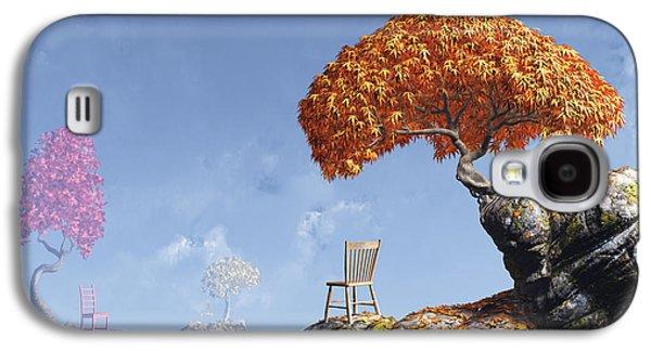 Chair Digital Art Galaxy S4 Cases - Leaf Peepers Galaxy S4 Case by Cynthia Decker