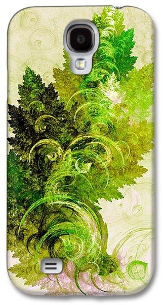 Bubbles Galaxy S4 Cases - Leaf Reflection Galaxy S4 Case by Anastasiya Malakhova