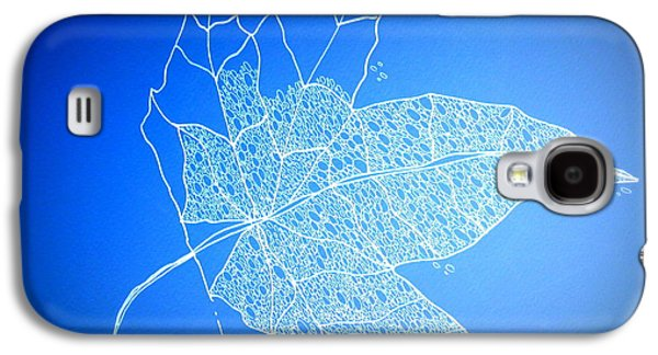 Catherine White Digital Galaxy S4 Cases - Leaf Study 1 Galaxy S4 Case by Cathy Jacobs