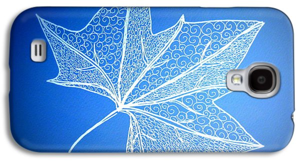 Catherine White Digital Galaxy S4 Cases - Leaf Study 2 Galaxy S4 Case by Cathy Jacobs