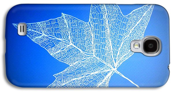 Catherine White Digital Galaxy S4 Cases - Leaf Study 3 Galaxy S4 Case by Cathy Jacobs