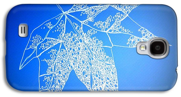 Catherine White Digital Galaxy S4 Cases - Leaf Study 4 Galaxy S4 Case by Cathy Jacobs