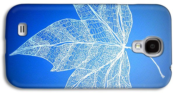 Catherine White Digital Galaxy S4 Cases - Leaf Study 5 Galaxy S4 Case by Cathy Jacobs