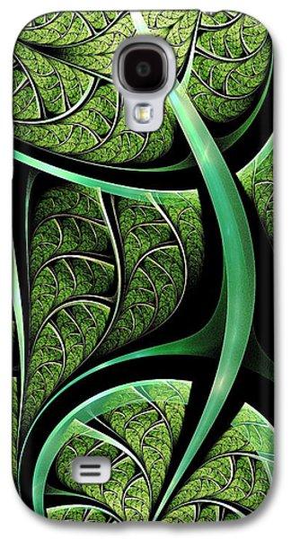 Natural Galaxy S4 Cases - Leaf Texture Galaxy S4 Case by Anastasiya Malakhova
