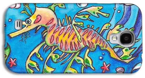 Leafy Sea Dragon Galaxy S4 Cases - Leafy Sea Dragon Galaxy S4 Case by Tamara Blyth