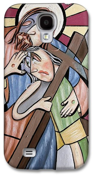 Green Framed Prints Digital Art Galaxy S4 Cases - Lean On Me Galaxy S4 Case by Anthony Falbo