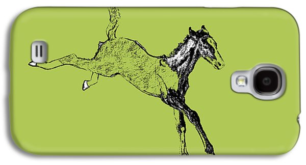 Drawings Galaxy S4 Cases - Leaping Foal Galaxy S4 Case by JAMART Photography
