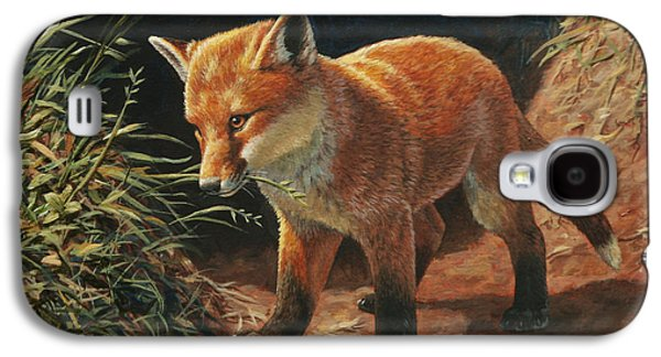 Red Fox Galaxy S4 Cases - Red Fox Pup - Learning Galaxy S4 Case by Crista Forest