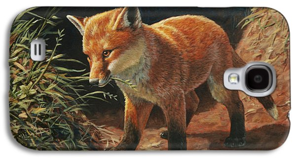 Puppies Galaxy S4 Cases - Red Fox Pup - Learning Galaxy S4 Case by Crista Forest