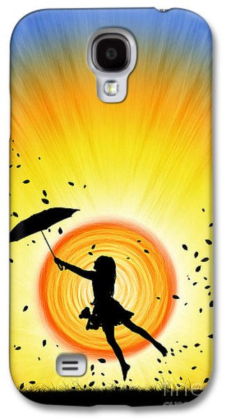 Umbrella Digital Galaxy S4 Cases - Learning to Fly Galaxy S4 Case by Tim Gainey