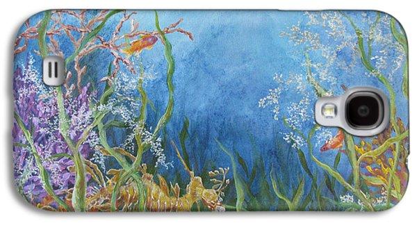 Leafy Sea Dragon Galaxy S4 Cases - Leafy Sea Dragon Galaxy S4 Case by Mary Magee