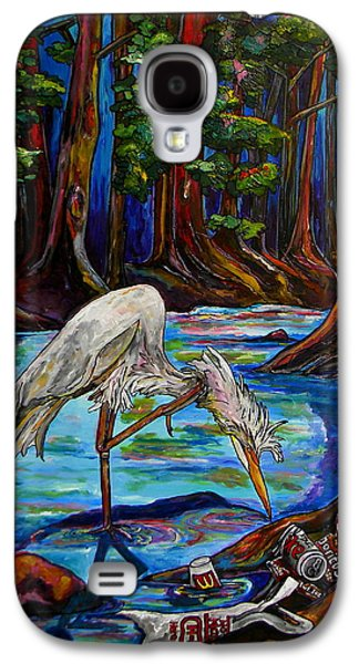 Nature Center Paintings Galaxy S4 Cases - Leave Only Footprints Galaxy S4 Case by Patti Schermerhorn