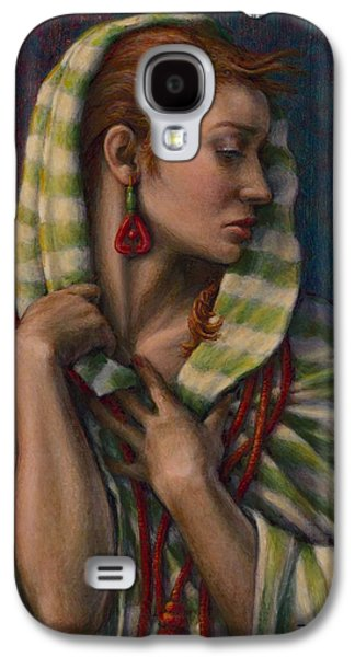 Courage Paintings Galaxy S4 Cases - Leaving Jericho Galaxy S4 Case by Jane Bucci