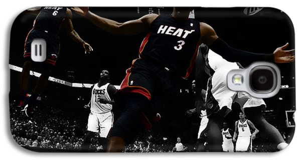 Dwyane Wade Galaxy S4 Cases - Lebron and D Wade Showtime Galaxy S4 Case by Brian Reaves