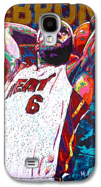 Nba Paintings Galaxy S4 Cases - LeBron Dunk Galaxy S4 Case by Maria Arango