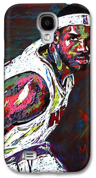 Lebron James 2 Galaxy S4 Case by Maria Arango