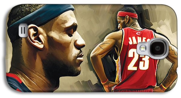 Nba Galaxy S4 Cases - LeBron James Artwork 1 Galaxy S4 Case by Sheraz A