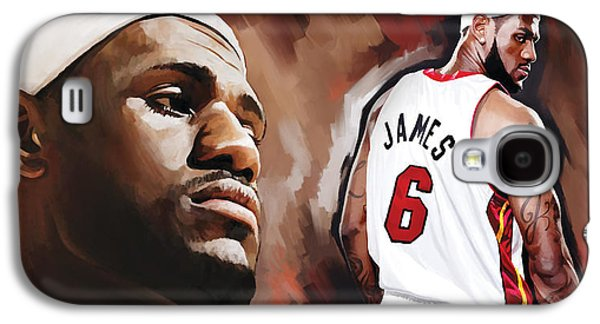 Lebron Mixed Media Galaxy S4 Cases - LeBron James Artwork 2 Galaxy S4 Case by Sheraz A