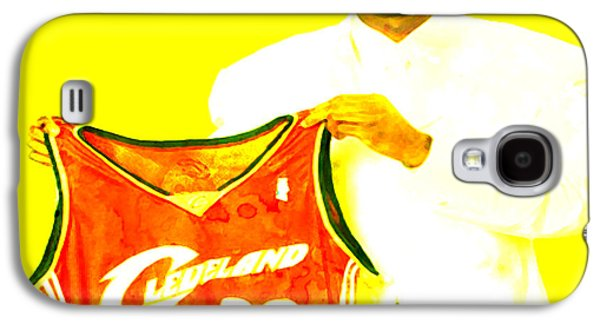 Lebron Paintings Galaxy S4 Cases - LeBron James Going Home Galaxy S4 Case by Brian Reaves