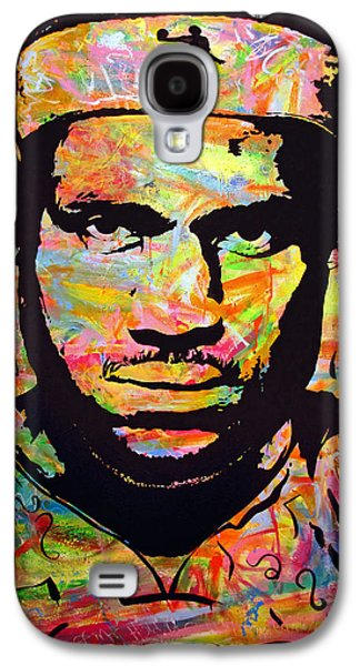 Lebron Paintings Galaxy S4 Cases - Lebron James Galaxy S4 Case by Jean P Losier