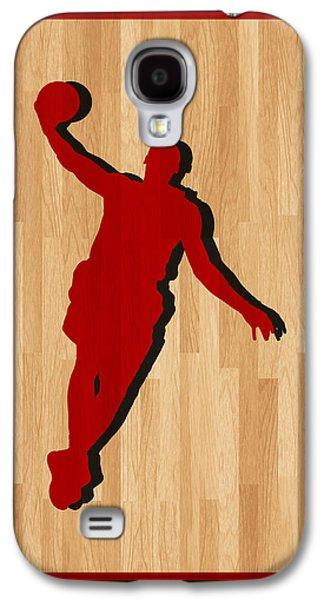 Lebron Galaxy S4 Cases - Lebron James Miami Heat Galaxy S4 Case by Joe Hamilton