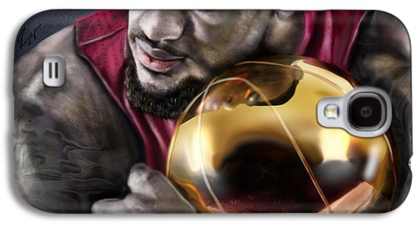 Nba Paintings Galaxy S4 Cases - LeBron James - My Way Galaxy S4 Case by Reggie Duffie