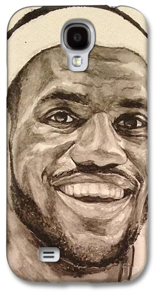 Lebron Paintings Galaxy S4 Cases - Lebron James Galaxy S4 Case by Tamir Barkan