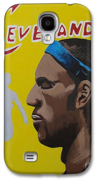 Lebron Paintings Galaxy S4 Cases - Lebron Galaxy S4 Case by Josh Miller