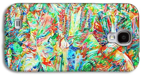 Led Zeppelin - Watercolor Portrait.1 Galaxy S4 Case by Fabrizio Cassetta