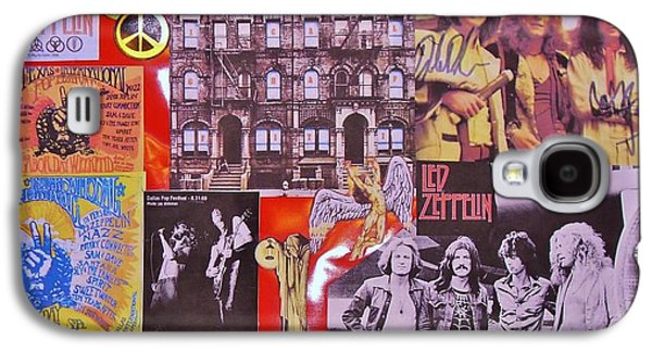 Autographed Art Galaxy S4 Cases - Led Zeppelin  Collage Number Two Galaxy S4 Case by Donna Wilson