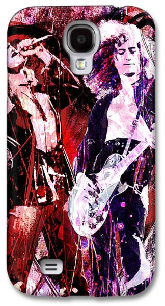 Led Zeppelin - Jimmy Page And Robert Plant Galaxy S4 Case by Ryan Rock Artist