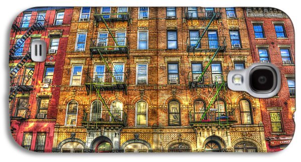 Led Zeppelin Physical Graffiti Building In Color Galaxy S4 Case by Randy Aveille