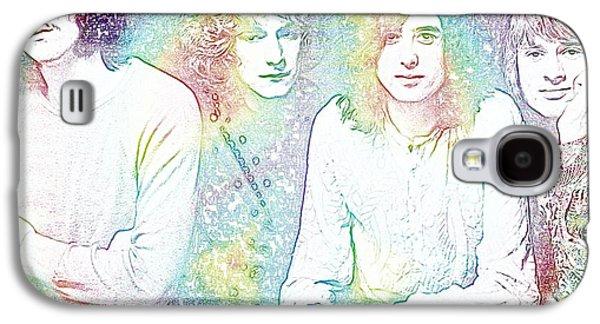 Led Zeppelin Tie Dye Galaxy S4 Case by Dan Sproul