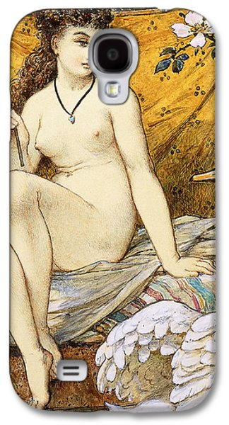 Nudes Drawings Galaxy S4 Cases - Leda and the Swan Galaxy S4 Case by William Stephen Coleman