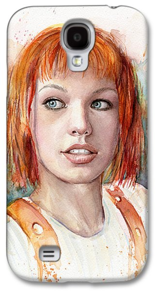 Fan Paintings Galaxy S4 Cases - Leeloo Portrait MULTIPASS The Fifth Element Galaxy S4 Case by Olga Shvartsur