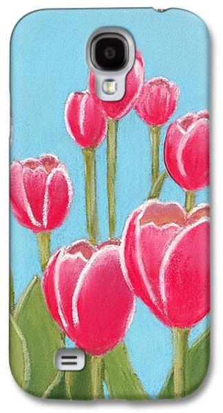 Cottage Galaxy S4 Cases - Leen van der Mark Tulips Galaxy S4 Case by Anastasiya Malakhova