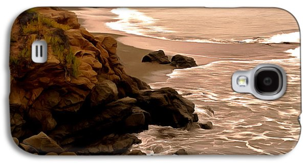 Coast Highway One Galaxy S4 Cases - Leffingwell Landing Cambria Detail 2 Galaxy S4 Case by Barbara Snyder