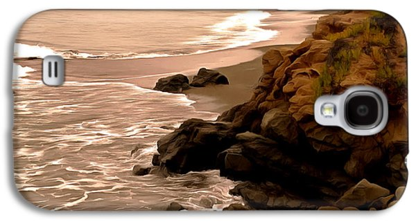 Coast Highway One Galaxy S4 Cases - Leffingwell Landing Cambria Detail Galaxy S4 Case by Barbara Snyder