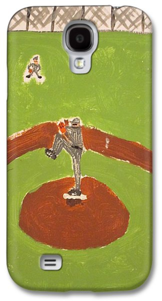 Baseball Stadiums Paintings Galaxy S4 Cases - Left of Center Galaxy S4 Case by Altruiste Cravens