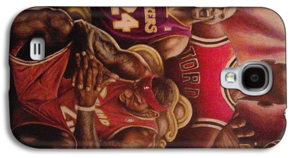 Michael Jordan Paintings Galaxy S4 Cases - Legacy..to Be King Galaxy S4 Case by Jamion Williams