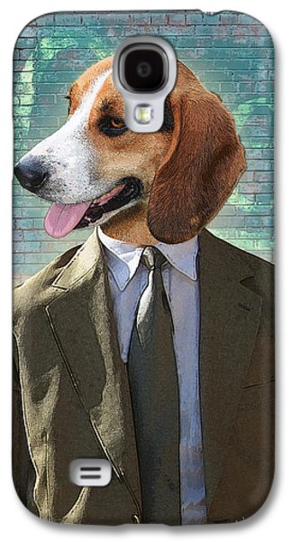 Dogs Digital Art Galaxy S4 Cases - Legal Beagle Galaxy S4 Case by Nikki Smith